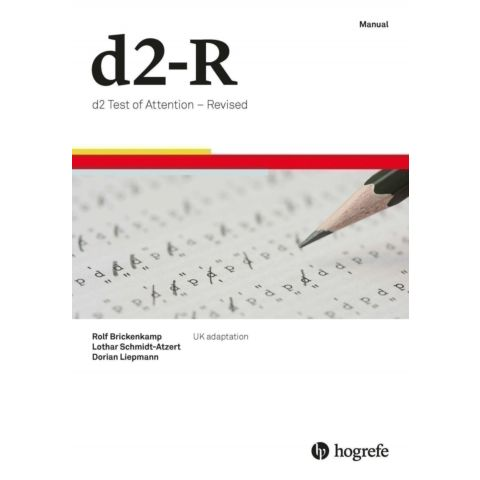 d2 Test of Attention – Revised (D2-R) eManual