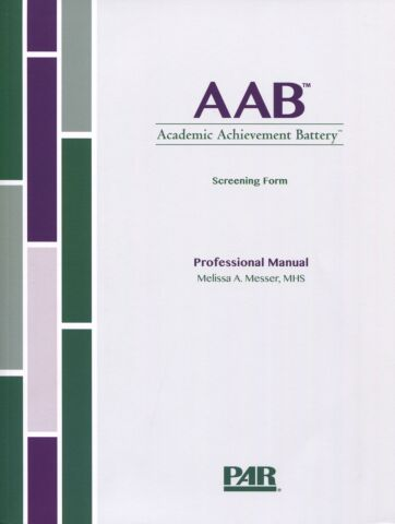AAB Screening Form Professional Manual