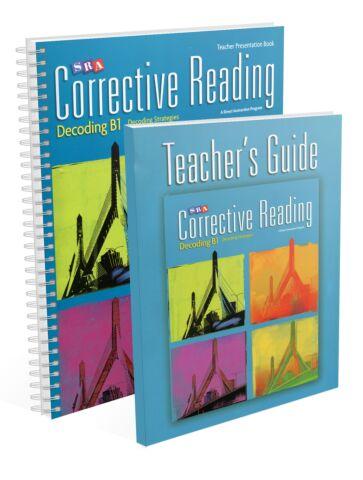 Corrective Reading: Decoding Strategies B1 - Teacher Materials
