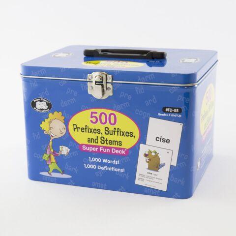 500 Prefixes, Suffixes, and Stems Super Fun Deck