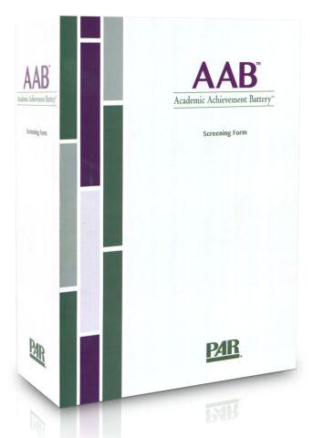 AAB Screening Form Kit