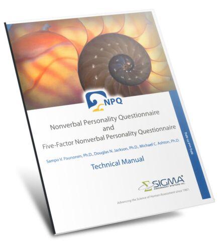 Nonverbal Personality Questionnaire (NPQ)