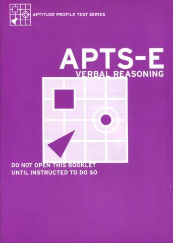 Aptitude Profile Test Series-Educational (APTS-E) Verbal Reasoning Test