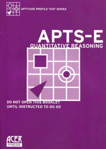 Aptitude Profile Test Series-Educational (APTS-E) Quantitative Reasoning Test Booklet