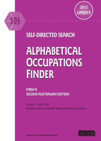 SDS Australian 2012 Update Alphabetical Occupations Finder