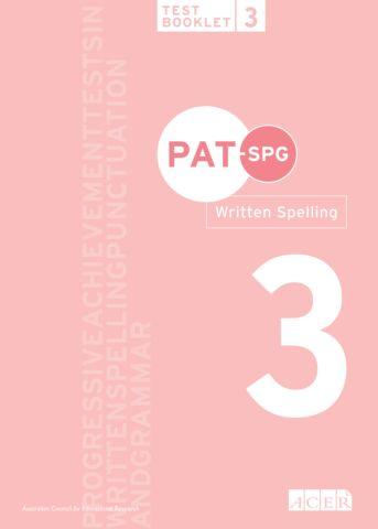 PAT-SPG Written Spelling Test Booklet 3 (Year 3 & 4)