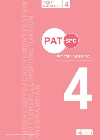 PAT-SPG Written Spelling Test Booklet 4 (Year 3, 4, 5)