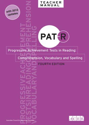 PAT-R 4th Ed Specimen Set - Whole School