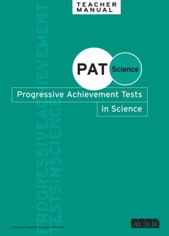 PAT Science Teacher Manual