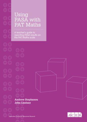 Using PASA with PAT Maths (PDF)