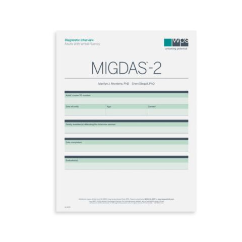 MIGDAS-2 Diagnostic Interview for Adults with Verbal Fluency Form (pkg 5)