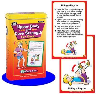 Upper Body and Core Strength Fun Deck